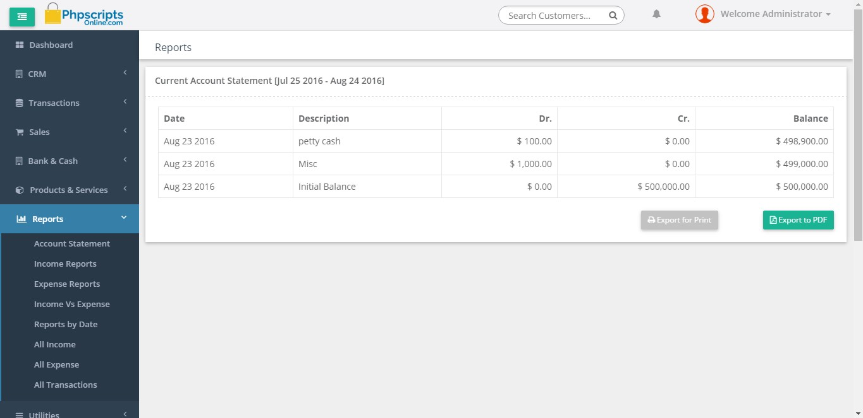 Open Source Based Crm Script Php Based Invoice Script