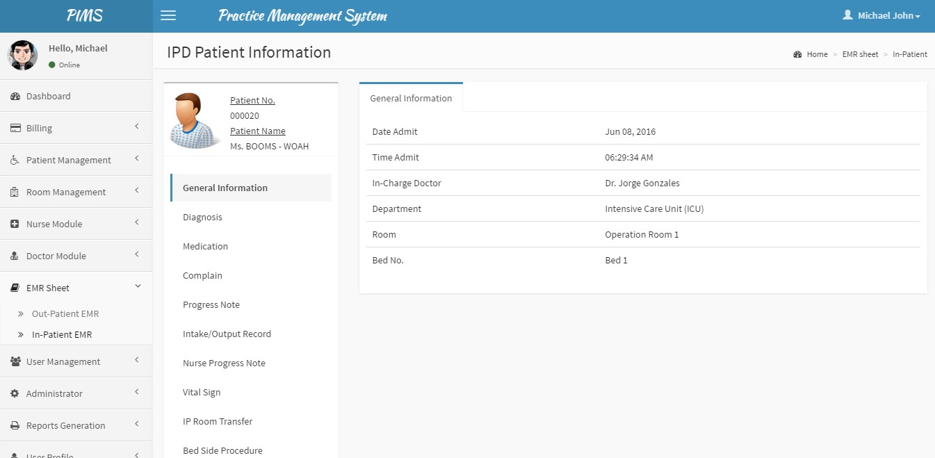 Php Based Clinic Management System Patient And Practice