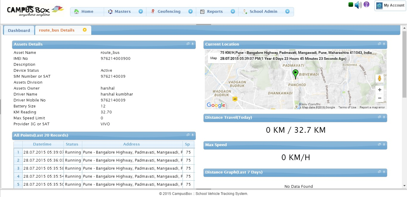 Open Source Based School Vehicle Tracking Software