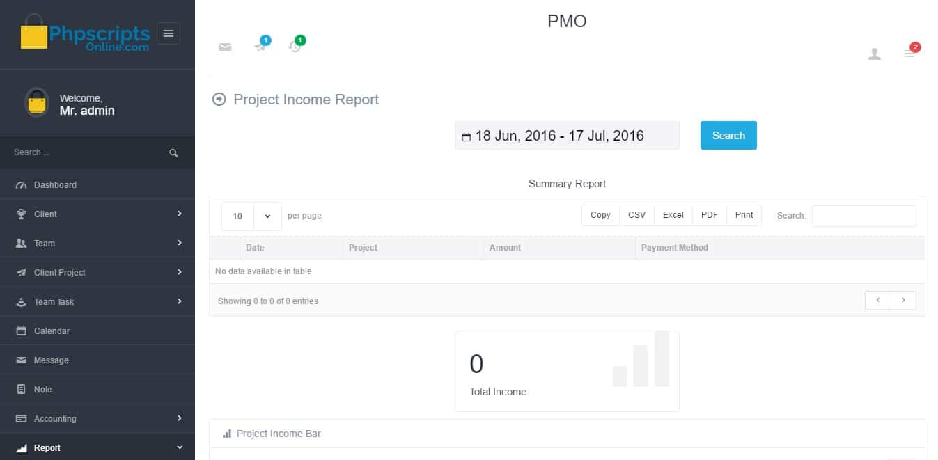 Project Office Management System