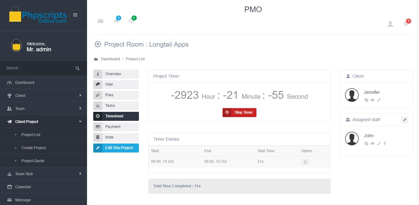 Open Source Based Project Management Script Php Based