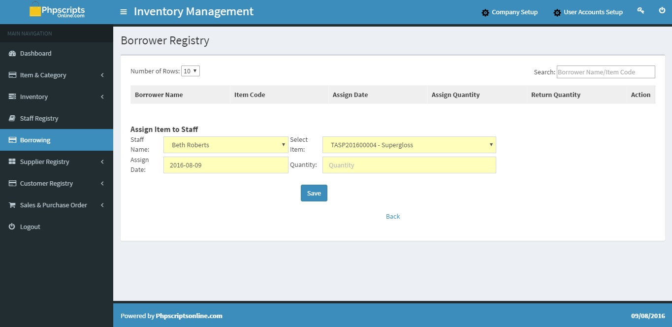 Open Source Based Inventory Management System Inventory
