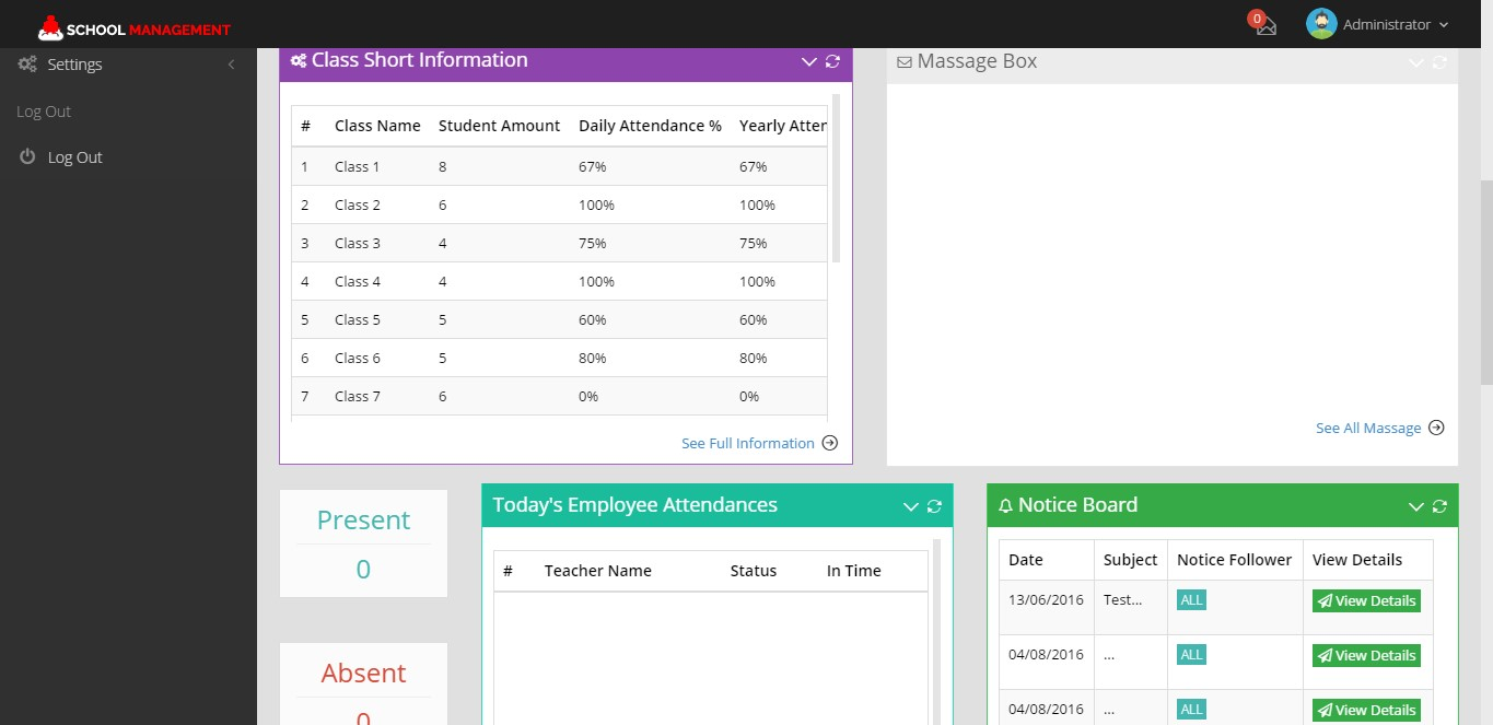 Technology Management Image: Open Source School Management, PHP Based School