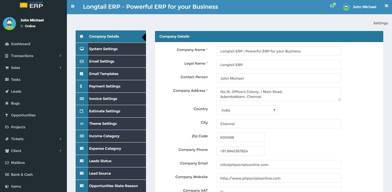 Business Accounting Management Script Custom Erp Solution