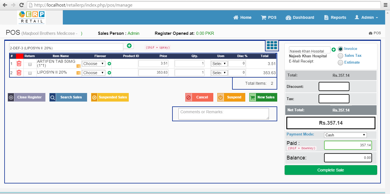 Php Based Retail Erp Readymade Retail Erp With Pos Open