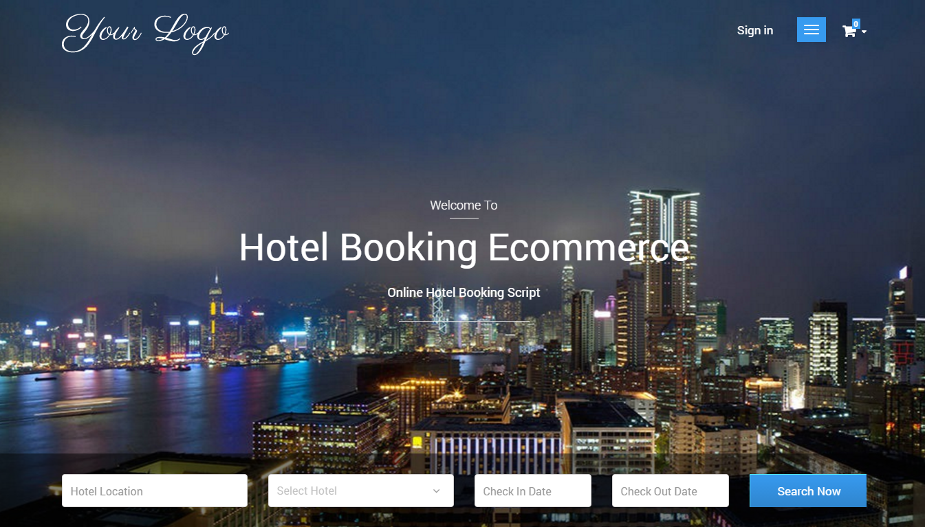 Php based hotel booking ecommerce script readymade hotel for Booking hotel