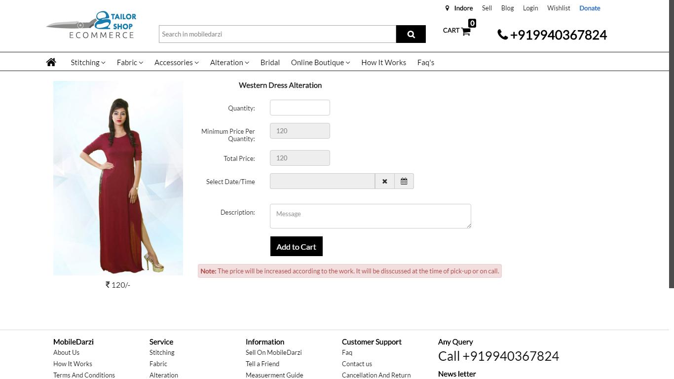 Tailor shop online