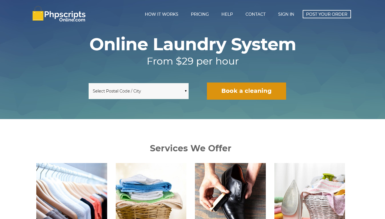 Online Booking for Cleaning Services