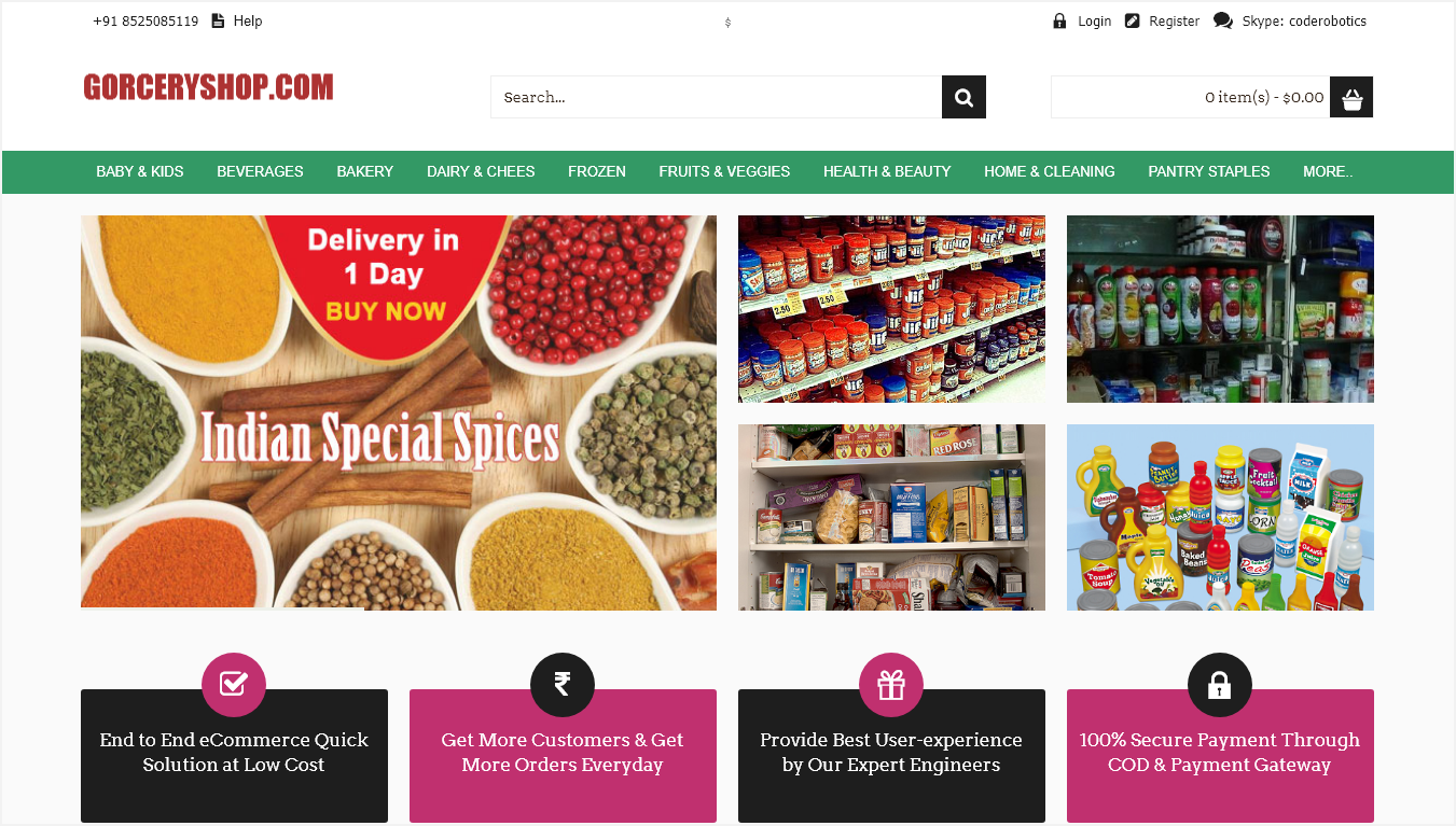 Grocery Shop Ecommerce Script