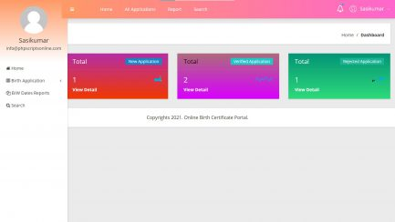 Online Birth Certificate Portal